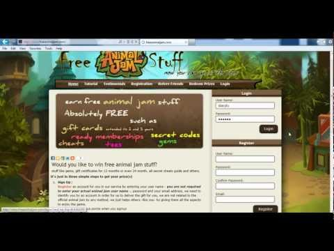 Get Free Animal Jam Gifts Gift Certificates, Gems, Membership accounts, Cheats Guide and more