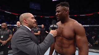 UFC Phoenix: Francis Ngannou and Cain Velasquez Octagon Interview