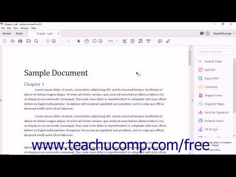 Acrobat Pro DC Introduction to Adobe Acrobat Pro&PDFs- Adobe Acrobat Pro DC Training Tutorial Course