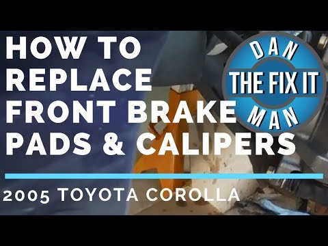 HOW TO REPLACE FRONT BRAKE PADS & CALIPERS - 2005 TOYOTA COROLLA - DIY