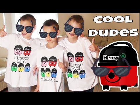 HOOVER MAD COOL DUDES ~ Fun Vacuum Cleaner Video with Henry Hoover TV Kids