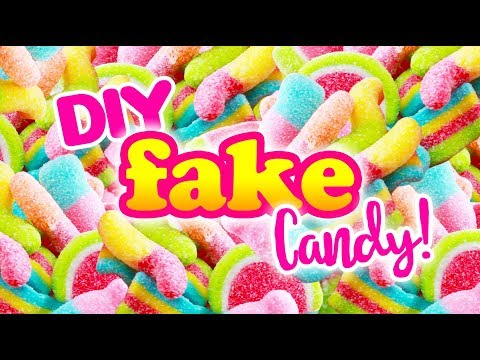 DIY FAKE Clay SOUR CANDY! - SUPER Easy DY
