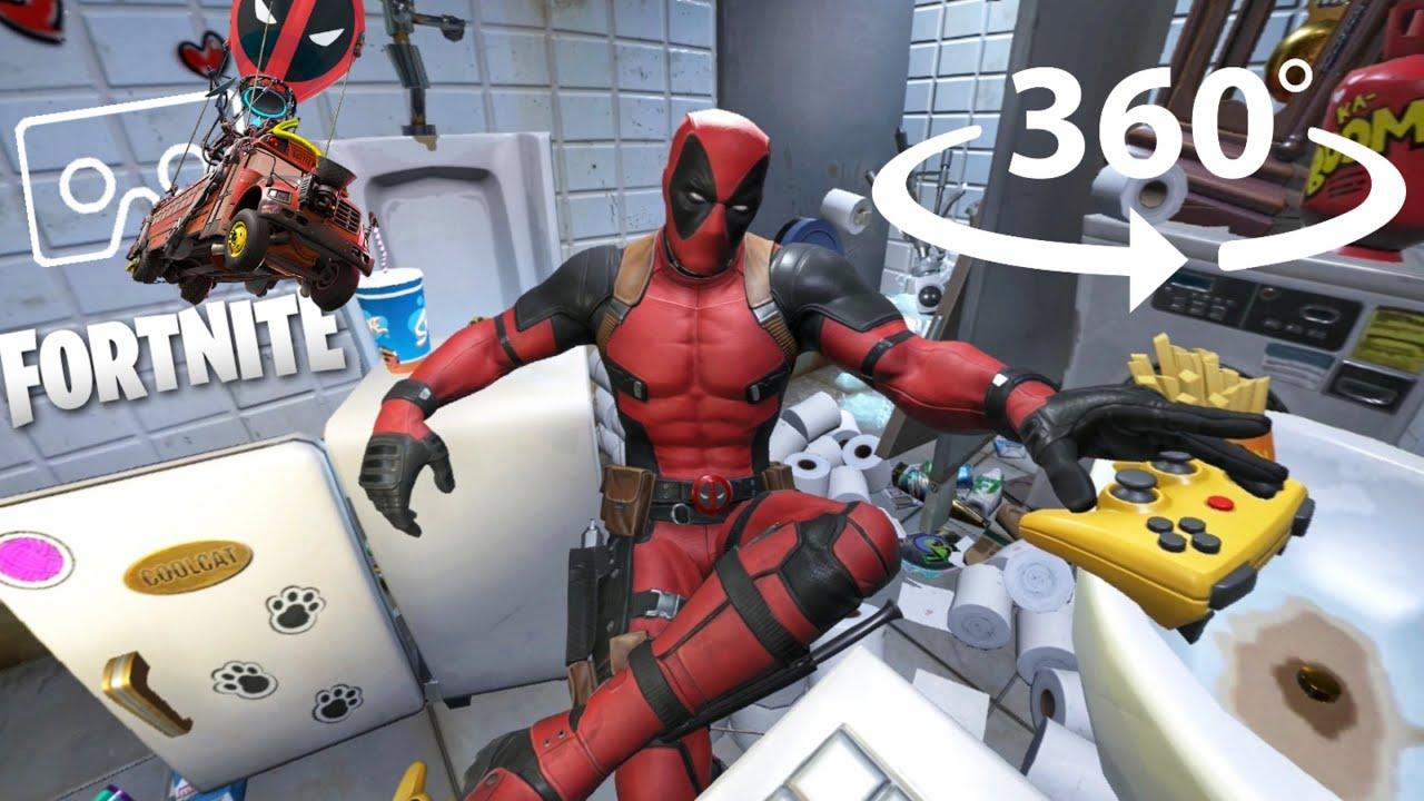 360° Deadpool Yacht EVENT | Dead pool Skin | FORTNITE Week 7 New Update in VR