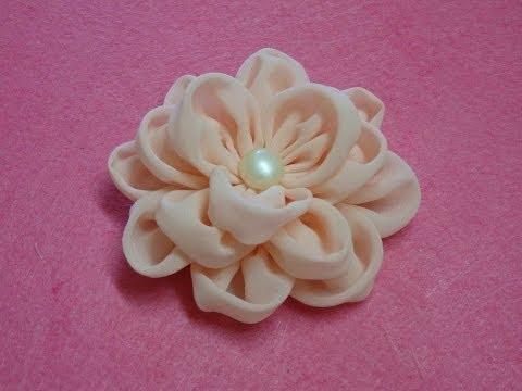 DIY chiffon flower,How to,Tutorial,fabric flower,easy