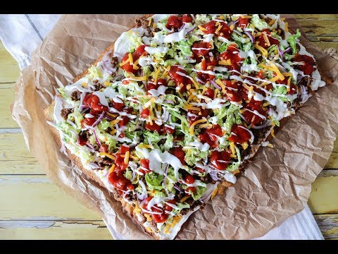 Crispy Taco Pizza With Beef - Delicious Dinner Recipe - By One Kitchen