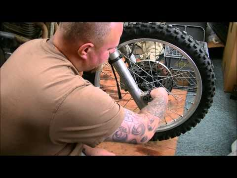 How to remove the front tire from a XR650L