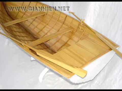 ROWING BOAT CLINKER BUILD - HANDICRAFT MODEL FOR HOME DECORATION