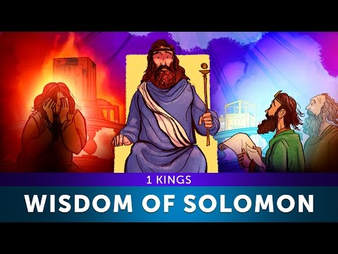 Sunday School Lesson - I Kings - The Wisdom of Solomon - Bible Teaching Stories for Christianity