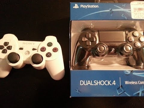 PS4 Controller Side by Side PS3 Controller || First Look
