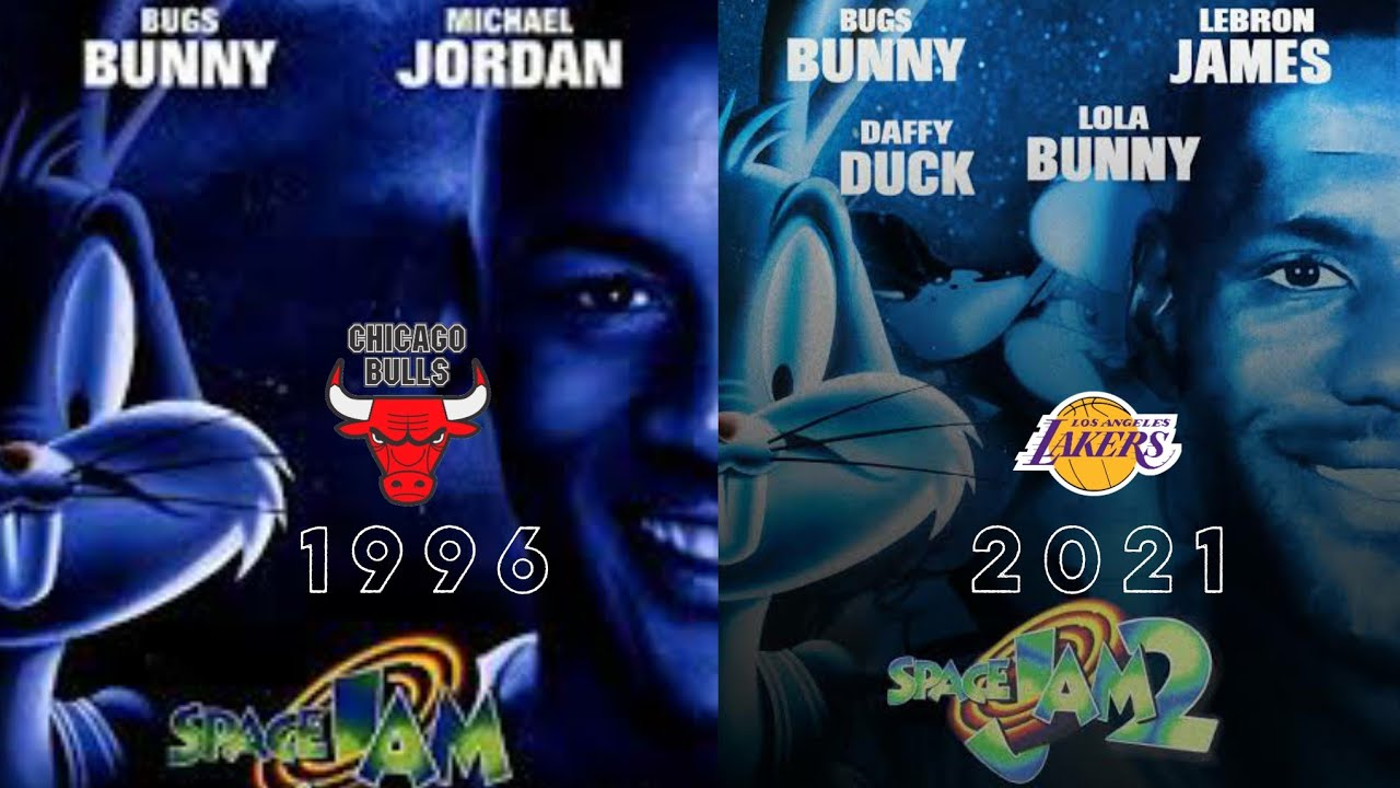 Space Jam 1 y 2 Opening Scene Comparation