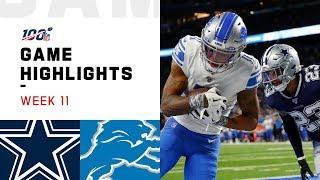 Cowboys vs. Lions Week 11 Highlights   NFL 2019