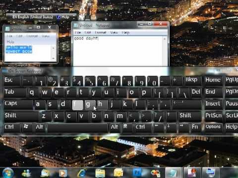 Virtual On-screen Keyboard in Windows 7 and Language Bar