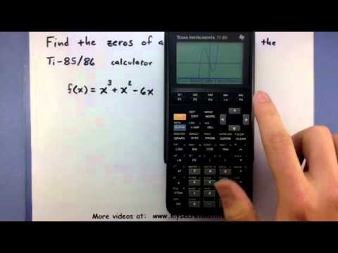 Pre-Calculus - Find the zeros of a function using the TI-85/86 calculator