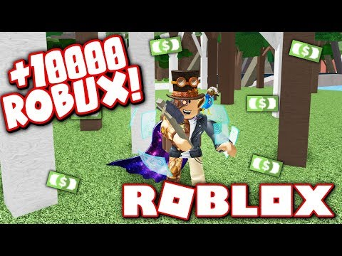CHOPPING TREES FOR ROBUX!! (Roblox Woodcutting Simulator)