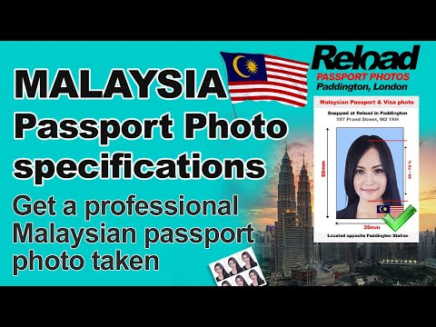 Malaysian Visa Photo specifications or Malaysian Passport Photo at Reload Internet in Paddington