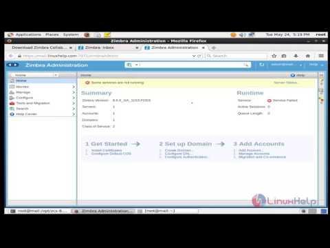 How to install and configure Zimbra mail server