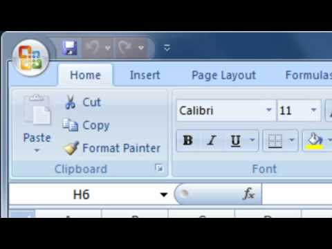 Excel 2007 Overview Guide - Part 4 - Formula Bar, Home Menu, Quick Access Toolbar and the Status Bar