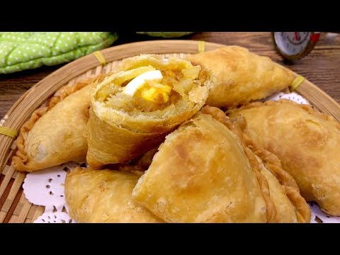 How to Make Simple Curry Puff (Karipap) from Scratch | MyKitchen101en