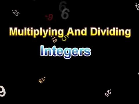 Integers - Rules For Multiplying And Dividing