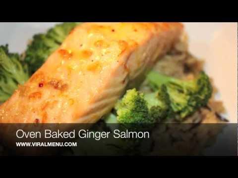 Oven Baked Ginger Salmon - Viral Menu