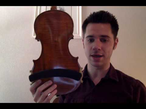 How to: Put a shoulder rest on your violin