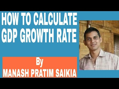 how to calculate GDP growth rate
