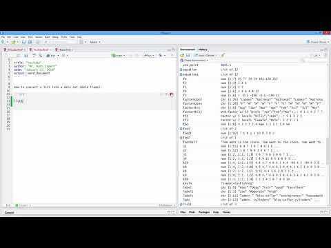 How to Convert a List into a Data Set (Data Frame) in R. [HD]