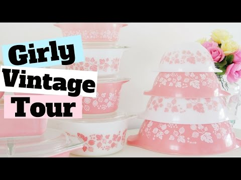 My Girly Vintage Kitchen TOUR 2016 | Where To Buy Girly Kitchen Supplies