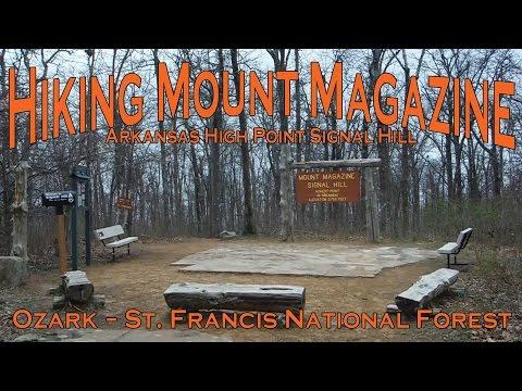 Hiking Mount Magazine Arkansas Highest Point Signal Hill - Ozark-St Francis National Forest