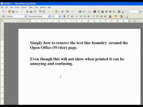 Open Office Remove Default Border Line