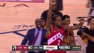 Final Seconds of 2019 NBA Finals Game 6 | Toronto Celebration | Raptors vs Warriors