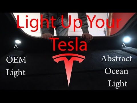 Light Up Your Tesla! Replacing OEM lights with Abstract Ocean Lighting