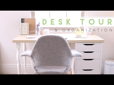 Desk Tour   How I Organize My Desk