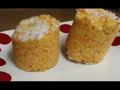Carrot puttu recipe | Carrot rice steam cake
