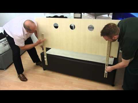 Attaching a strutted headboard to a Divan Bed base