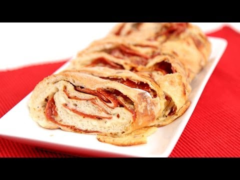 Homemade Pepperoni Bread Recipe - Laura Vitale - Laura in the Kitchen Episode 723