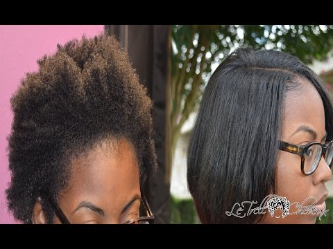 How to blend NATURAL hair with weave |Naked Assuage Smoothing Treatment on leaveout