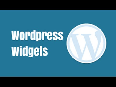 Wordpress Widgets - Quick Tutorial