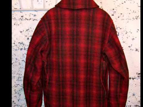 VINTAGE WOOL WOOLRICH PA RED MACKINAW PLAID 503 UPLAND BIRD HUNTING COAT SZ 40