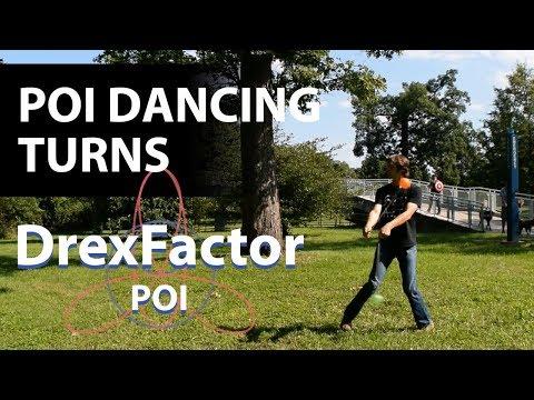 How to do Basic Poi Dancing Turns (Chaînés): 1-minute tutorial