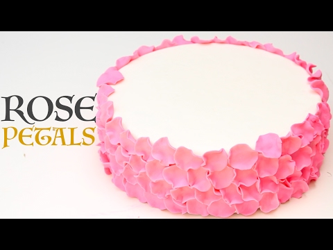 how to make simple FONDANT ROSE PETALS (no tools required!) | Its A Piece Of Cake