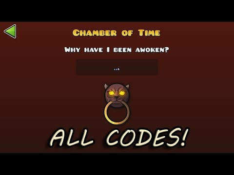 GEOMETRY DASH 2.1: CHAMBER OF TIME - CODES & HOW TO ENTER/ CÓDIGOS & COMO ENTRAR