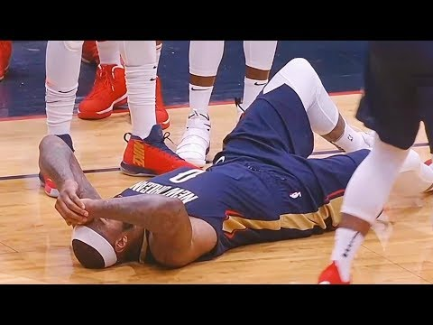 DeMarcus Cousins Injury - Achilles Injury! Rockets vs Pelicans January 26, 2018