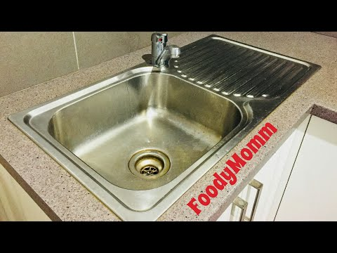 HOW TO CLEAN KITCHEN SINK | CLEAN SINK WITH SALT & LEMON | NO CHEMICAL CLEANING | FoodyMomm