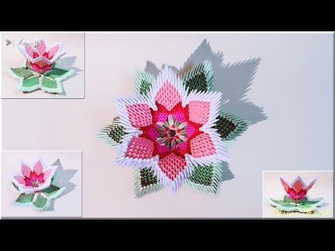 How to make 3d origami flower 5 (Toutorial)