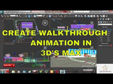 Create Walkthrough Animation & Rendering Settings in 3Ds Max Tutorial//Hindi Bhasha