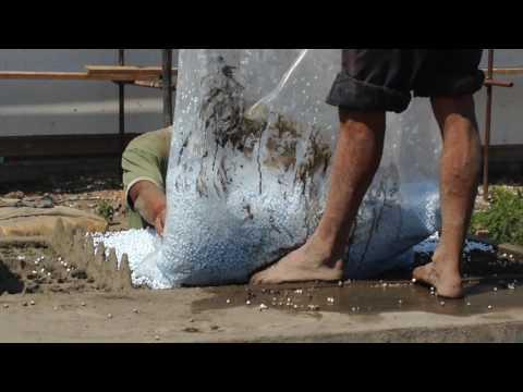 Polystyrene concrete blocks -begining