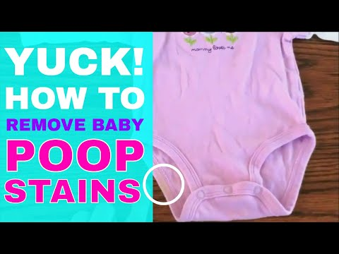 How to Naturally Remove Baby Poop Stains from Clothing - Quick & Easy
