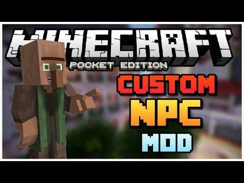 CUSTOM VILLAGERS IN MCPE !! - Ultimate NPCs Mod - Minecraft PE 0.14.0 (Pocket Edition)