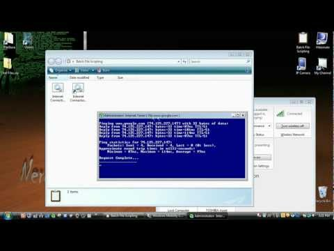 Network Connection Checker Batch File Tutorial!